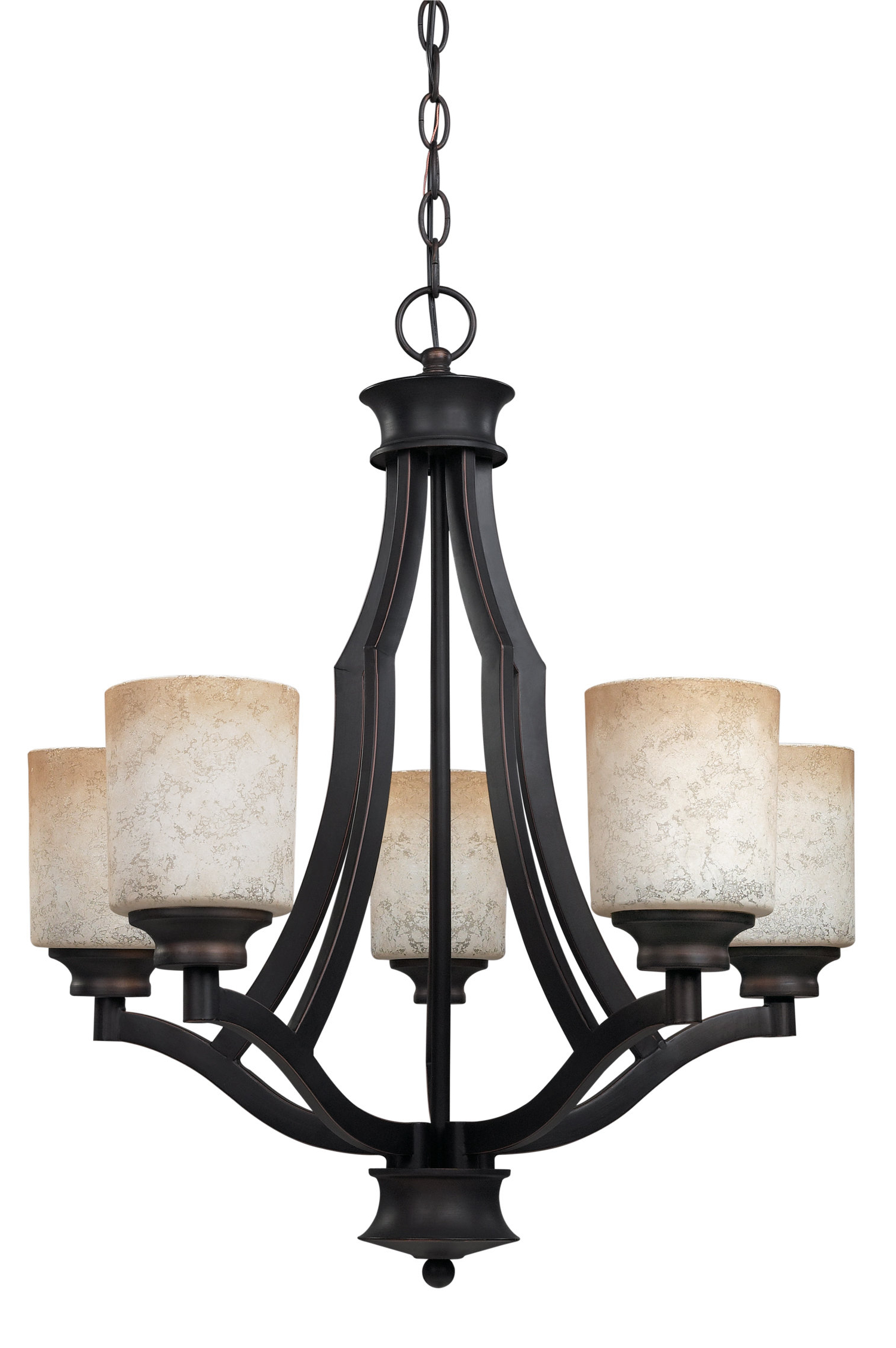 Recent Garza 5 Light Shaded Chandelier With Crofoot 5 Light Shaded Chandeliers (View 16 of 20)