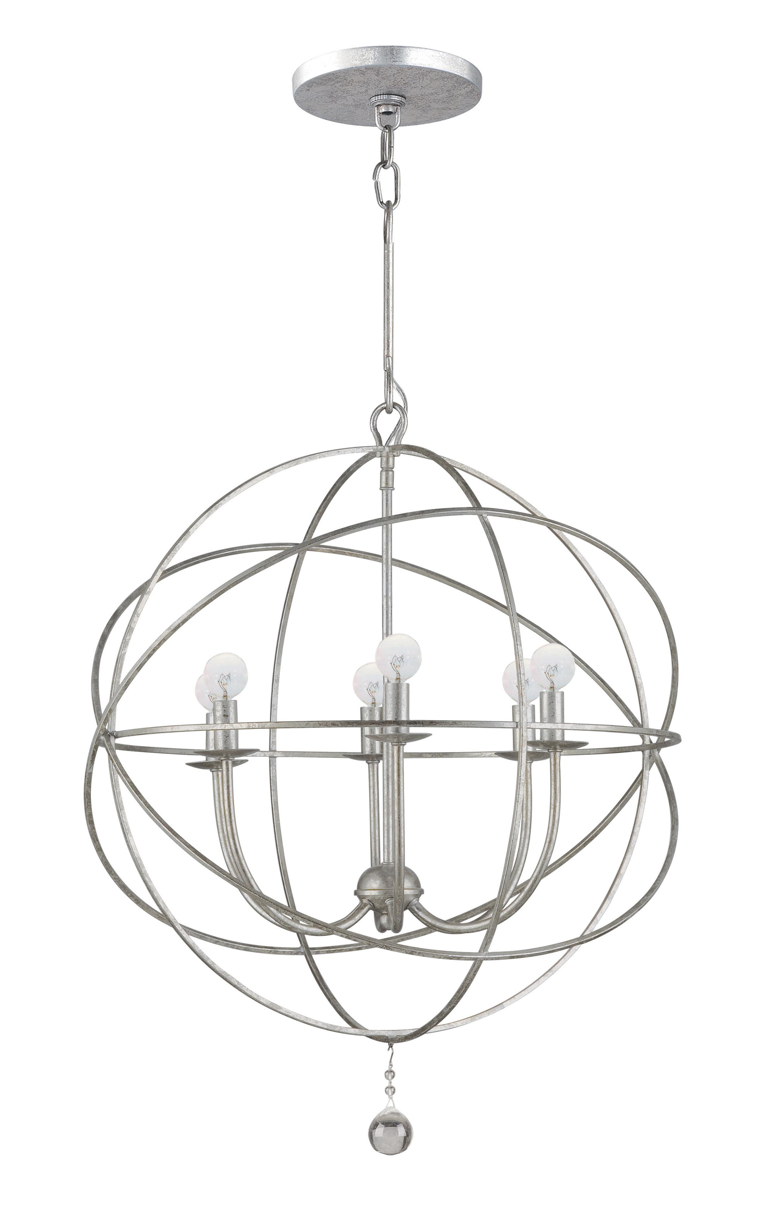 Recent Gregoire 6 Light Globe Chandelier With Regard To Eastbourne 6 Light Unique / Statement Chandeliers (View 18 of 20)