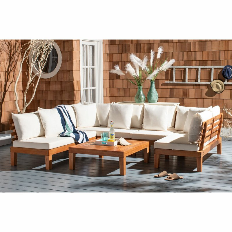 Recent Greta Living Patio Sectionals With Cushions Pertaining To Greta Living Patio Sectional With Cushions (View 3 of 20)