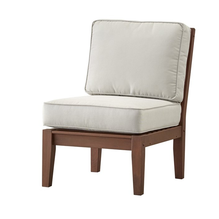 Recent Hursey Armless Chair With Cushion With Regard To Hursey Patio Sofas (View 17 of 20)