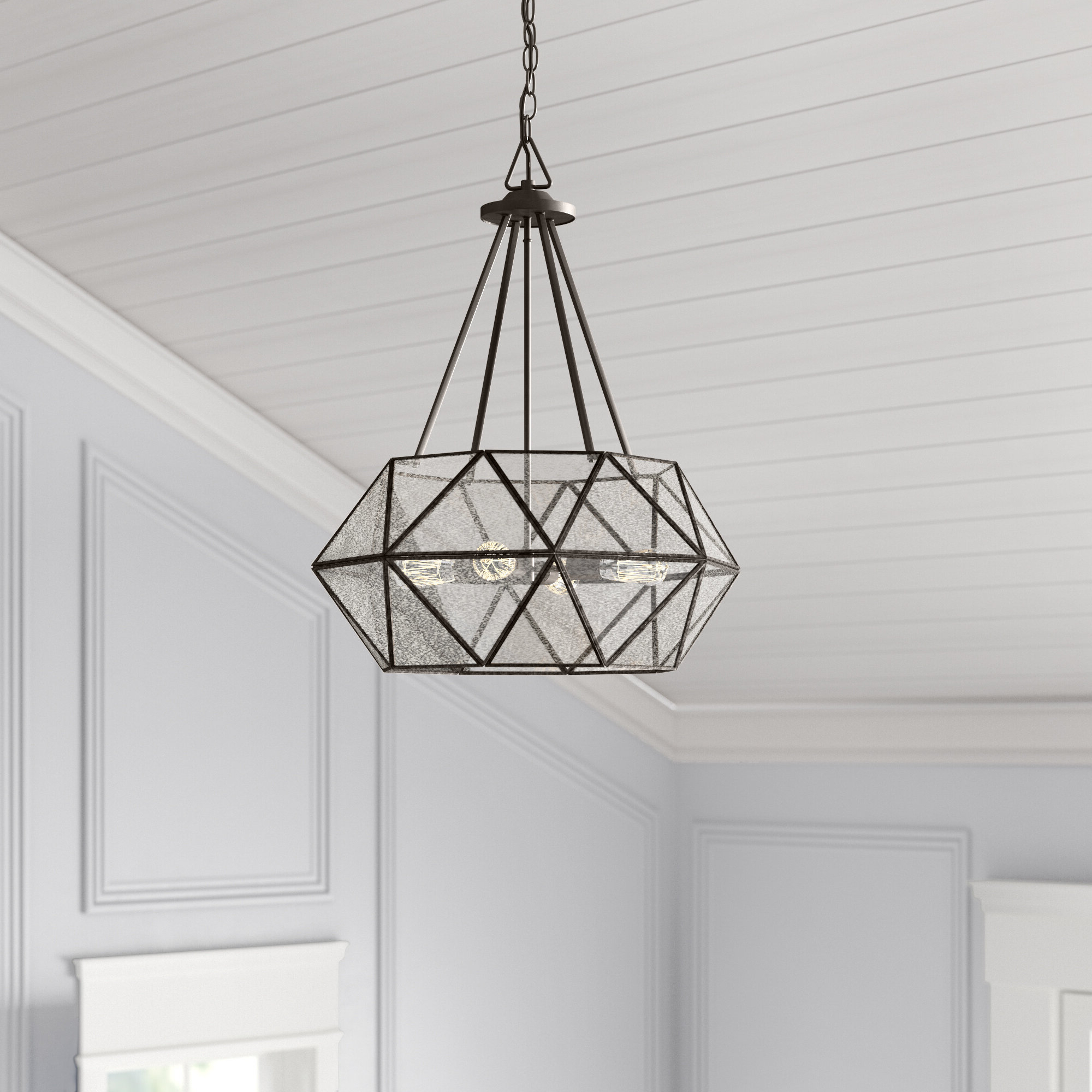 Recent Jacey 4 Light Chandelier Throughout Cavanagh 4 Light Geometric Chandeliers (View 9 of 20)