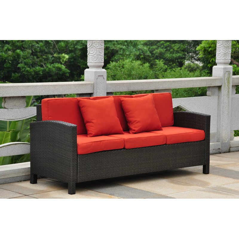 Recent Katzer Patio Sofa With Cushions Throughout Katzer Patio Sofas With Cushions (Gallery 1 of 20)