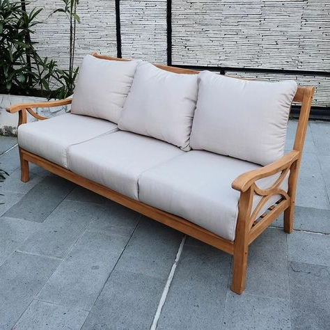 Recent Lakeland Teak Loveseat With Cushions For Brunswick Teak Loveseats With Cushions (View 16 of 20)