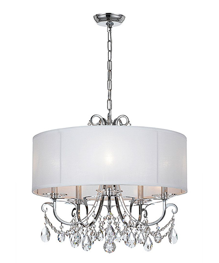 Recent Look At This Polished Chrome Five Light Chandelier On Pertaining To Abel 5 Light Drum Chandeliers (View 16 of 20)