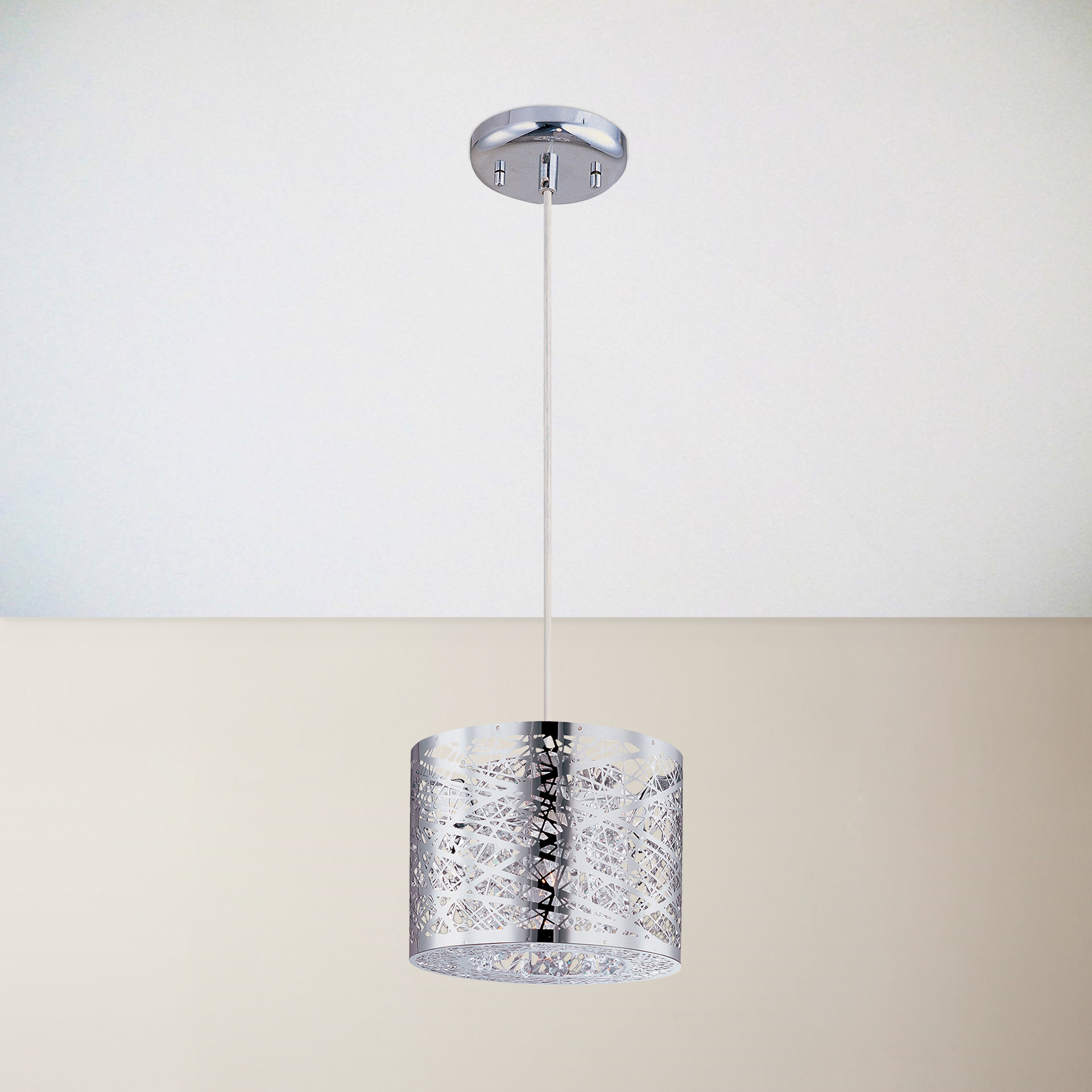 Recent Marlie 1 Light Drum Pendant In Bainbridge 1 Light Single Cylinder Pendants (View 19 of 20)
