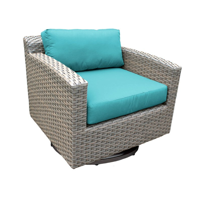 Recent Meeks Patio Sofas With Cushions With Regard To Meeks Swivel Patio Chair With Cushions (View 5 of 20)