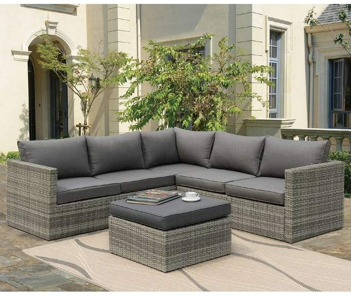 Recent Mercury Row Lorentzen Patio Sectional With Cushions In Rowley Patio Sofas Set With Cushions (View 14 of 20)