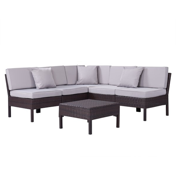 Recent Rowley Patio Sofas Set With Cushions Inside Outdoor Sofa Sets (View 15 of 20)