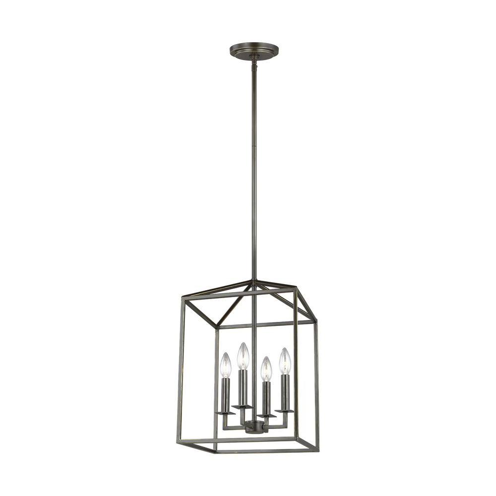 Recent Sea Gull Lighting Perryton 4 Light Chestnut Bronze Pendant For Thorne 6 Light Lantern Square / Rectangle Pendants (View 8 of 20)