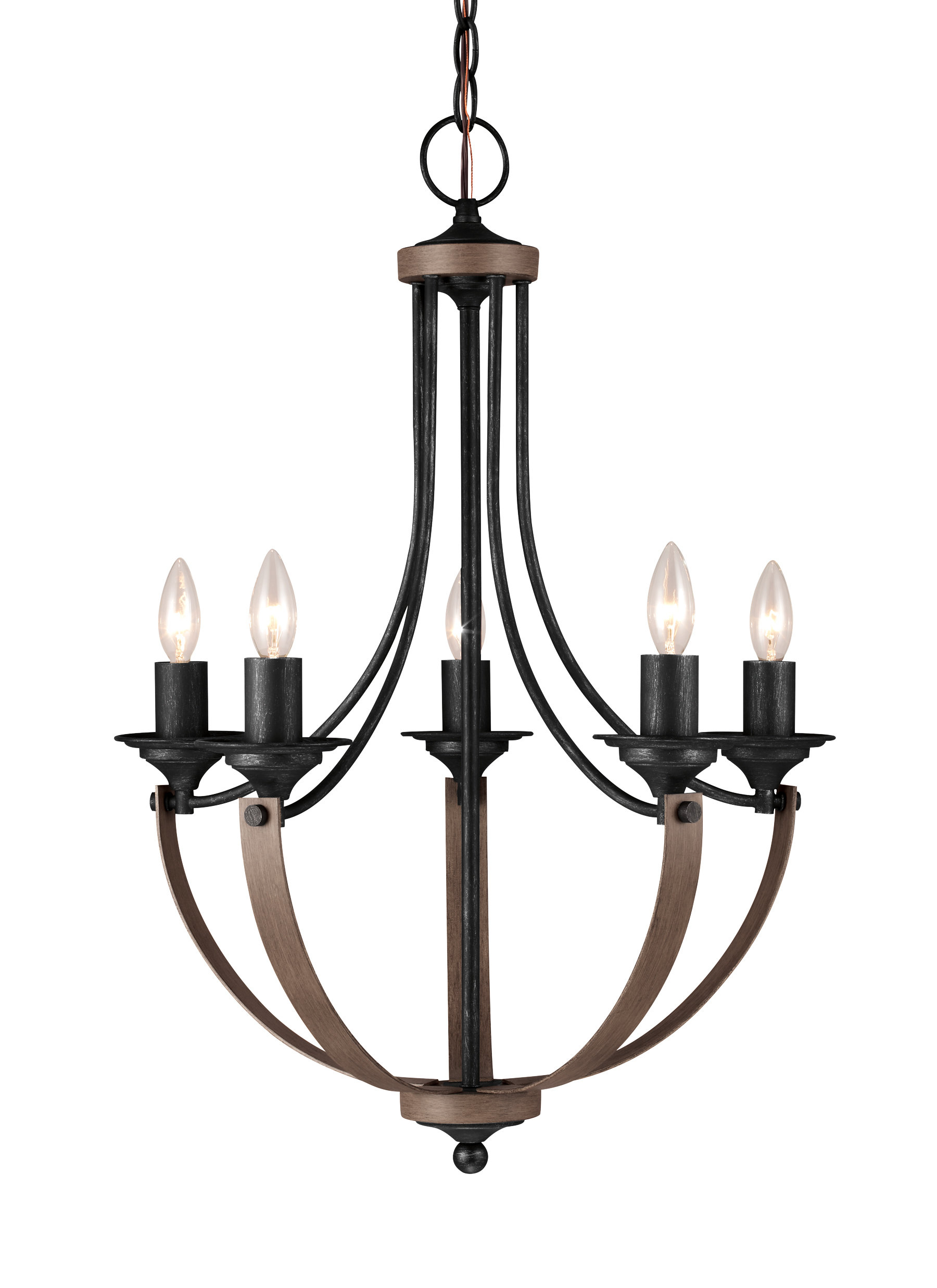 Recent Shaylee 5 Light Candle Style Chandeliers With Regard To Kenna 5 Light Empire Chandelier (View 13 of 20)
