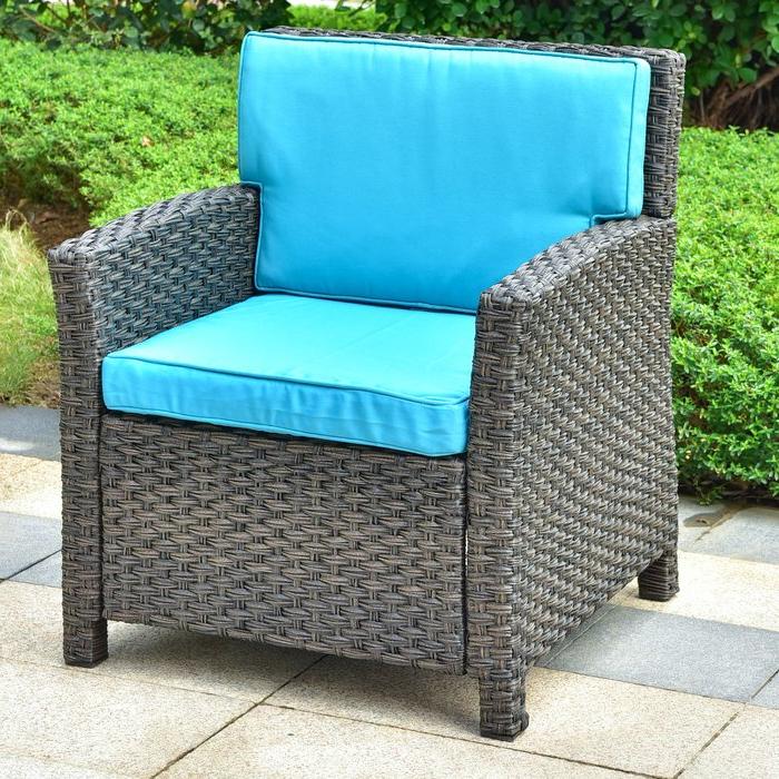 Recent Stapleton Wicker Resin Contemporary Patio Chair With Cushion Regarding Stapleton Wicker Resin Patio Sofas With Cushions (View 14 of 20)