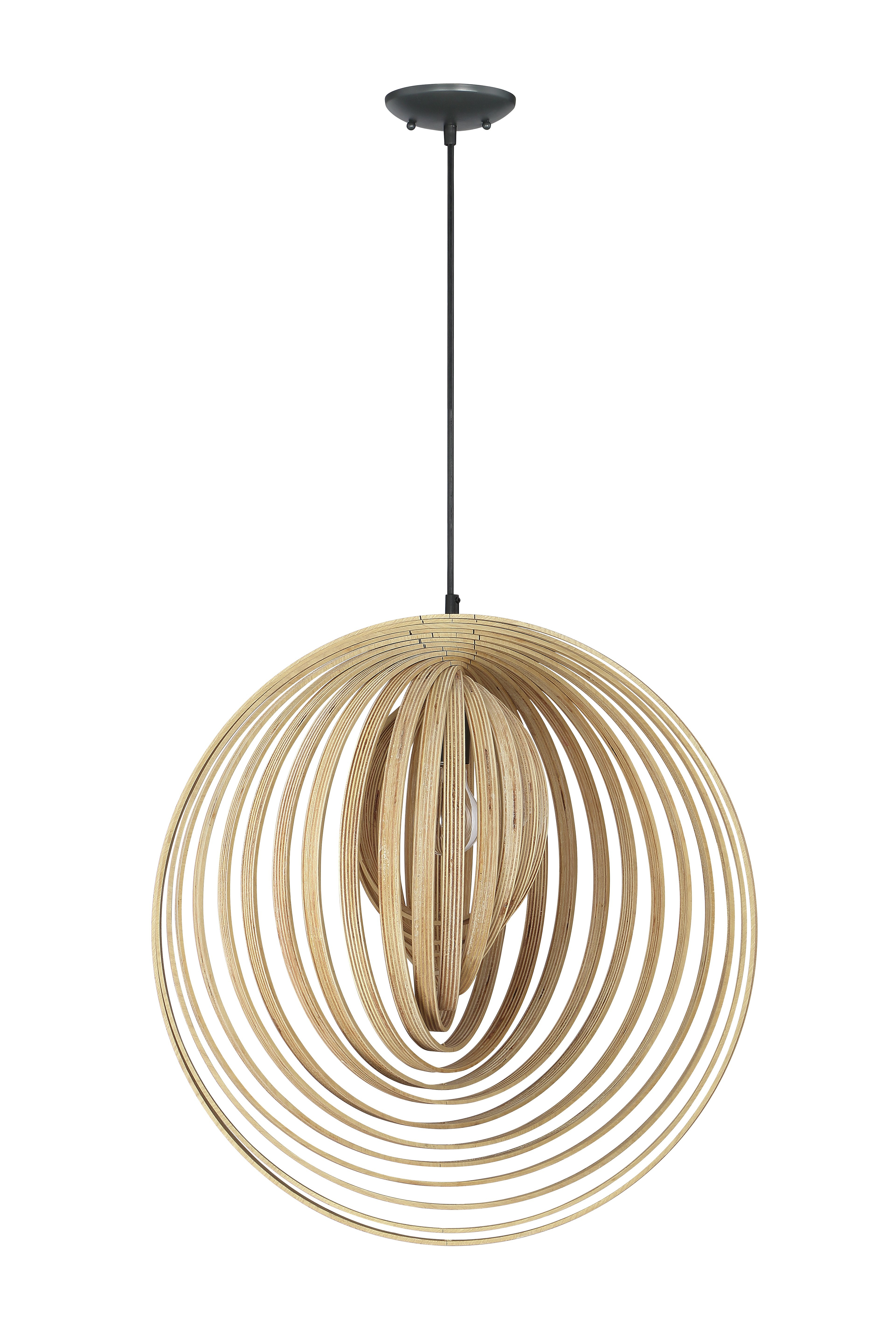 Recent Ussery 1 Light Unique / Statement Globe Pendant With Regard To Rossi Industrial Vintage 1 Light Geometric Pendants (Gallery 5 of 20)