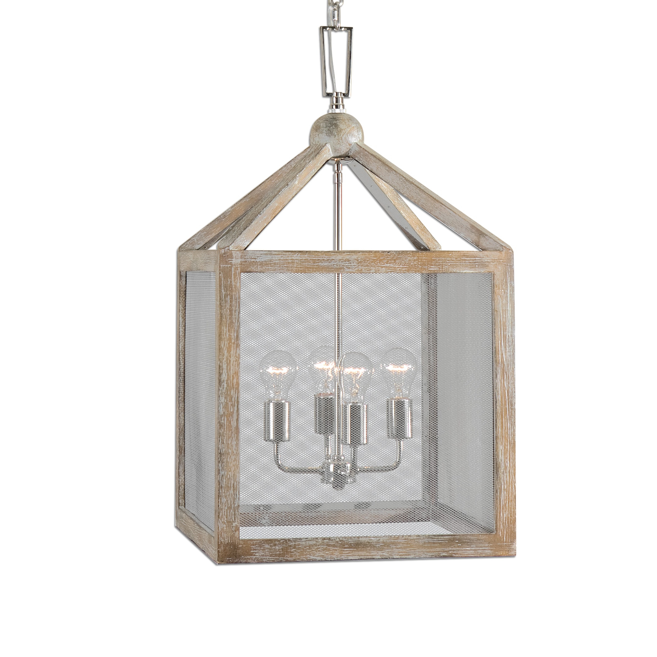 Recent William 4 Light Lantern Square / Rectangle Pendants With Nashua 4 Light Wooden Lantern Pendantuttermost – 16 W X 29 H (View 9 of 20)