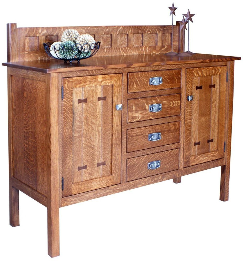 Recent Womack Sideboards Inside Amish Mission Gettysburg Dining Room Sideboard Buffet Server (View 14 of 20)