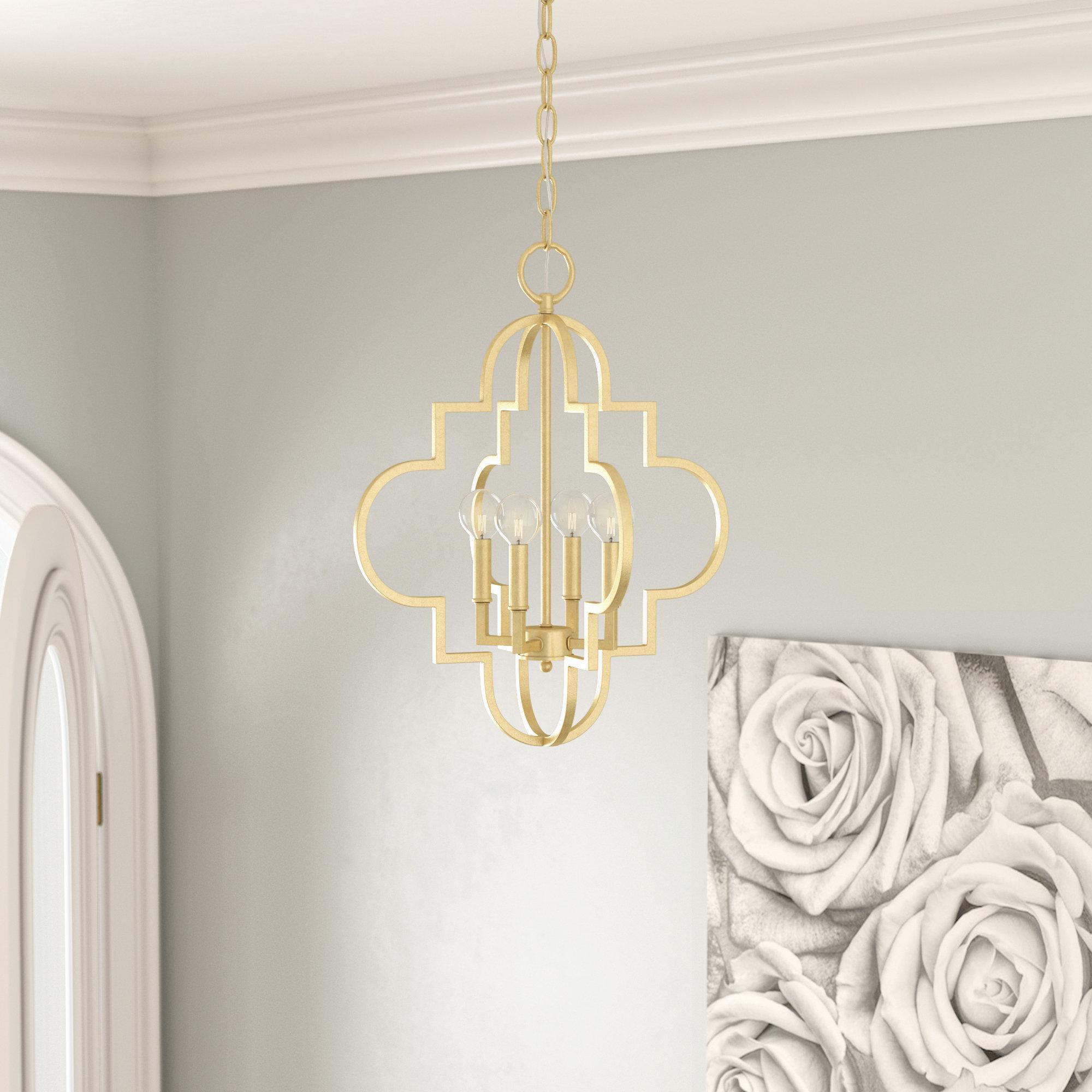 Featured Photo of Reidar 4 Light Geometric Chandeliers