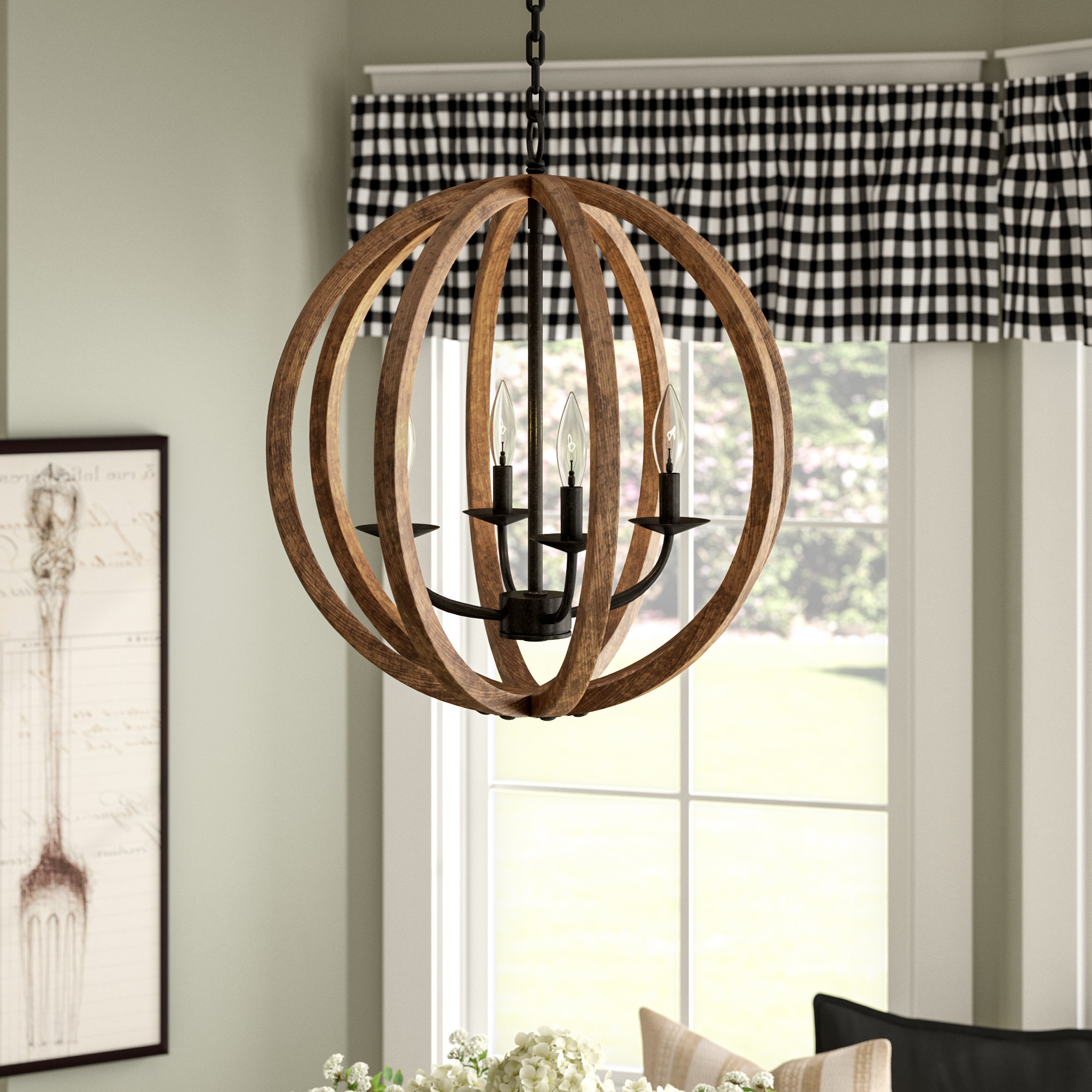 Ricciardo 4 Light Globe Chandeliers Regarding Popular Birch Lane Ricciardo 4 Light Globe Chandelier & Reviews (Gallery 1 of 20)