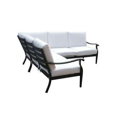 Riley 3 Piece Metal Outdoor Sectional Set With Cushions Included, Choose  Your Own Color Throughout Widely Used Corentin Patio Sofas (View 17 of 20)