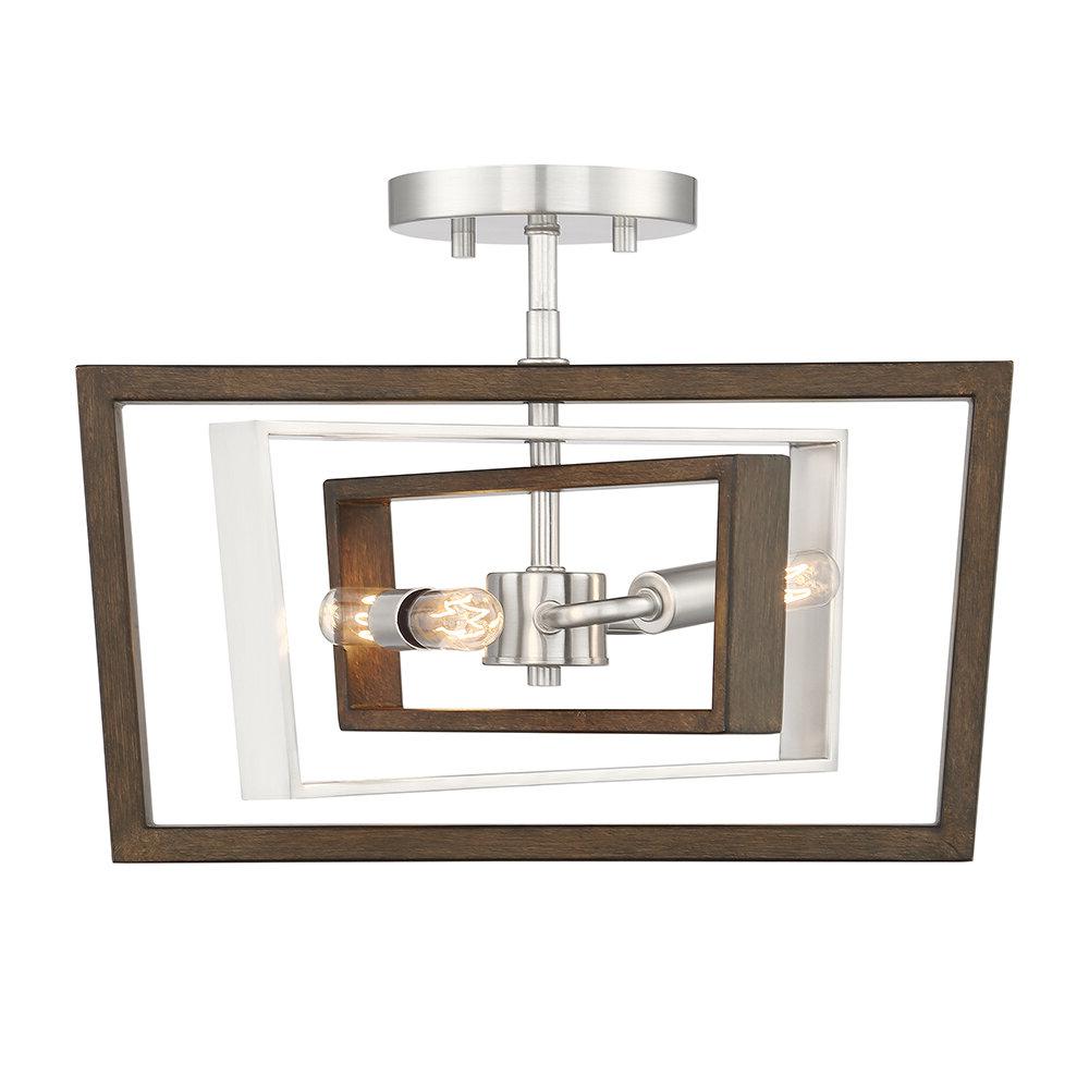 Robblee 4 Light Geometric Pendants Intended For Popular Demetri 2 Light Geometric Chandelier (Gallery 10 of 20)