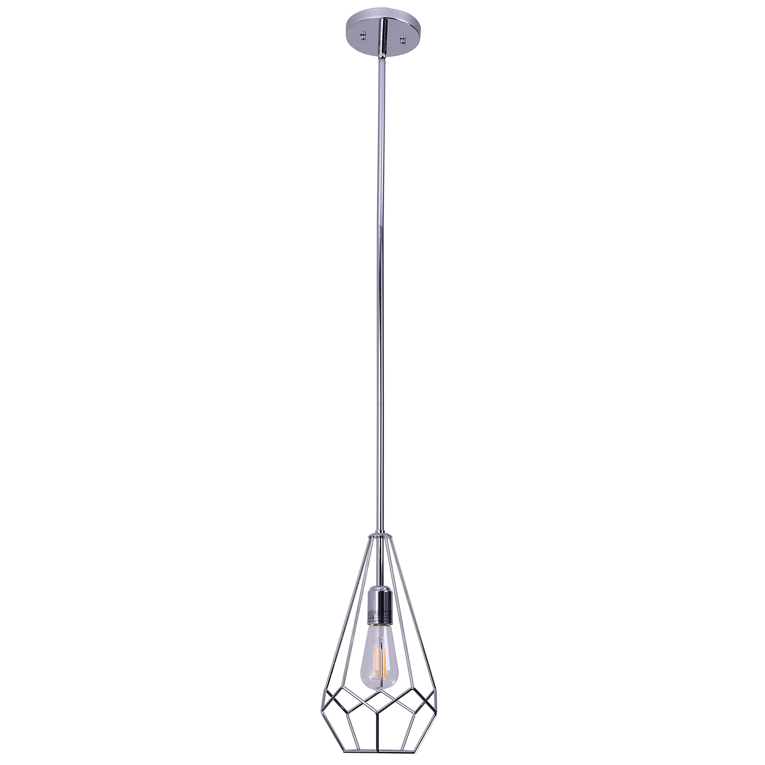 Rockland 4 Light Geometric Pendants Pertaining To Popular Shoreditch 1 Light Geometric Pendant (View 14 of 20)