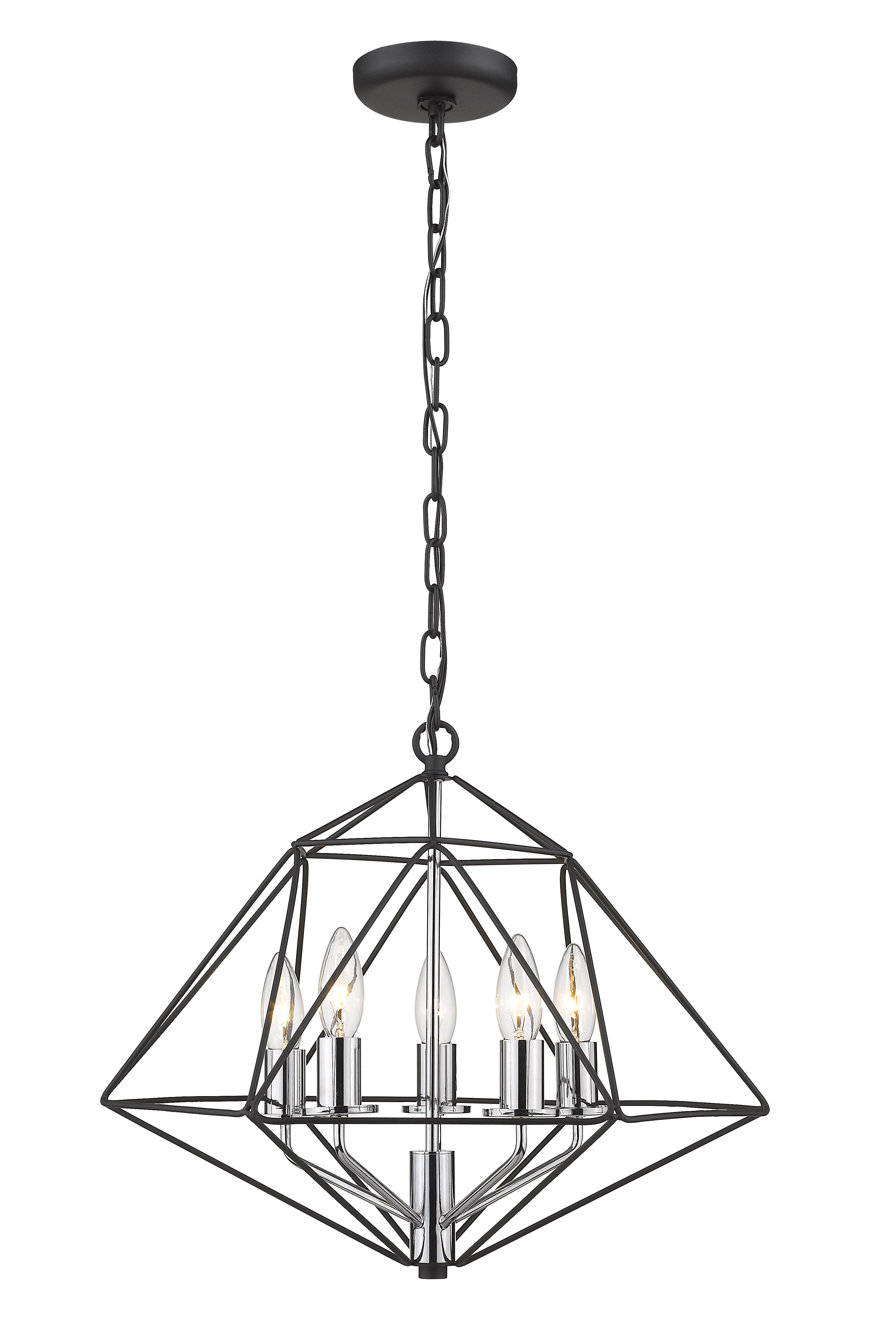 Rockland 4 Light Geometric Pendants With Preferred Kiesel 5 Light Geometric Pendant (Gallery 2 of 20)