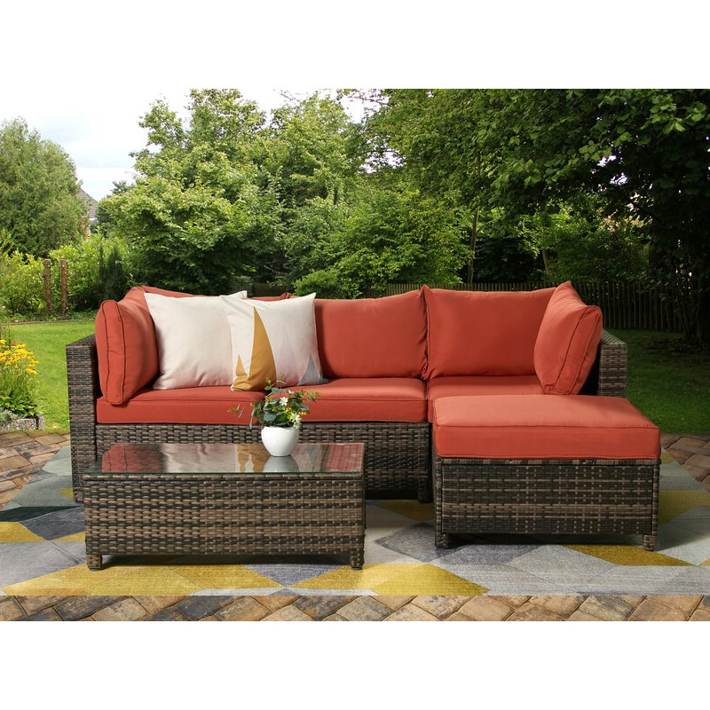 Roni Patio Sectional With Cushions With Regard To Well Liked Wrobel Patio Sectionals With Cushion (View 9 of 20)