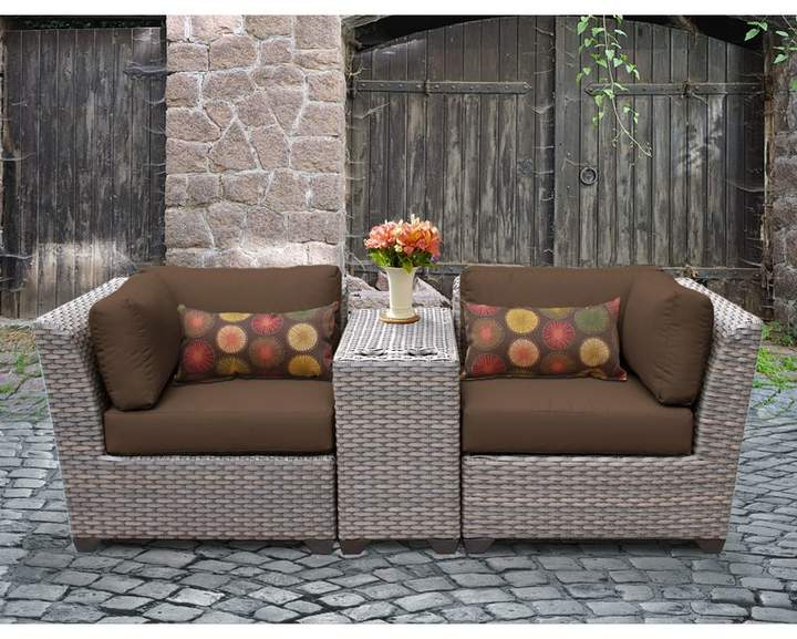 Rosecliff Heights Meeks 3 Piece Conversation Set With With Regard To Widely Used Meeks Patio Sofas With Cushions (View 18 of 20)
