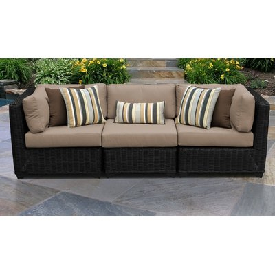 Rosecliff Heights Mejia Wicker Patio Sofa With Cushions Intended For Most Recent Newbury Patio Sofas With Cushions (View 16 of 20)