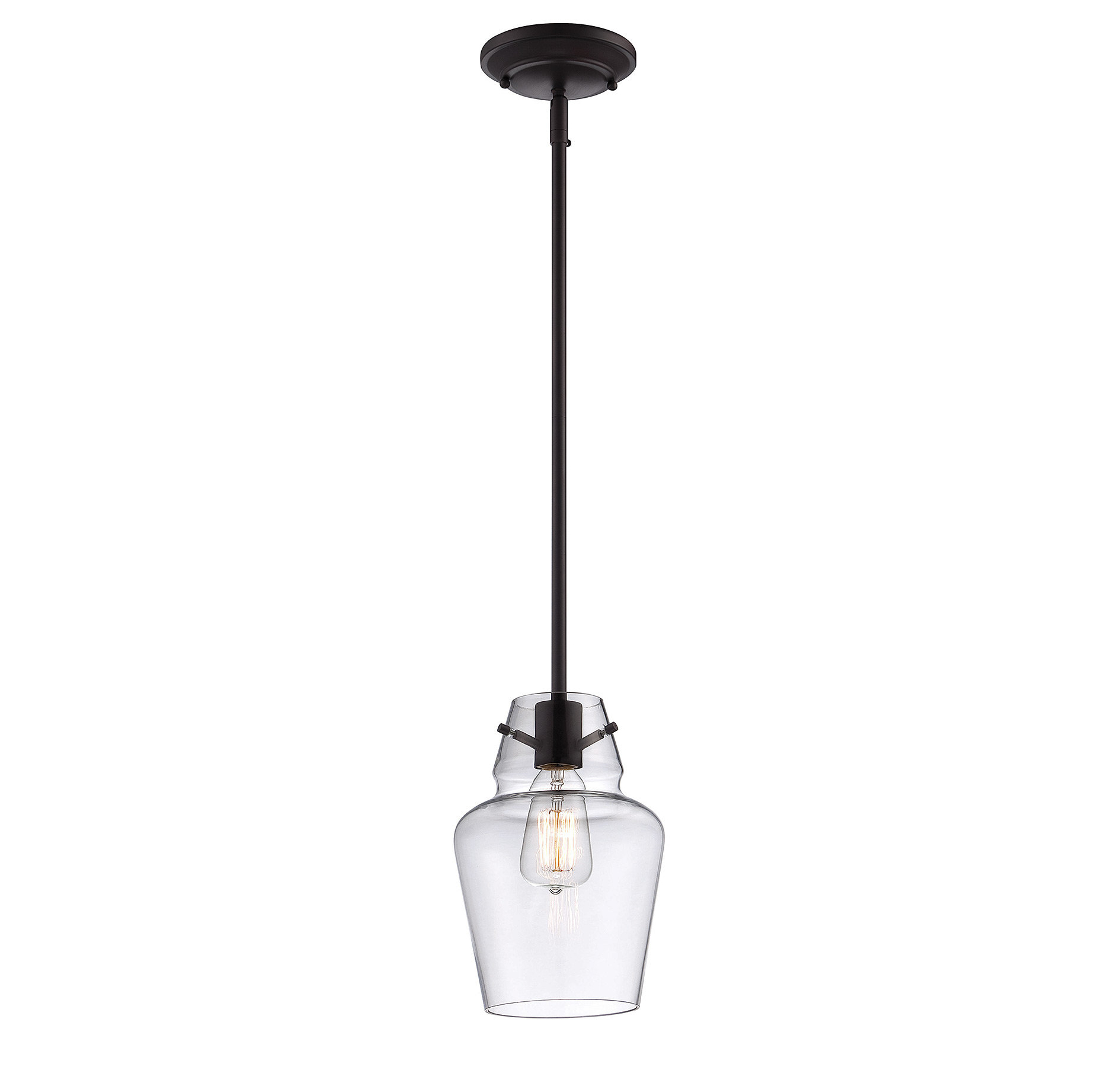 Roslindale 1 Light Single Bell Pendant With Regard To Most Recently Released Sue 1 Light Single Jar Pendants (Gallery 8 of 20)