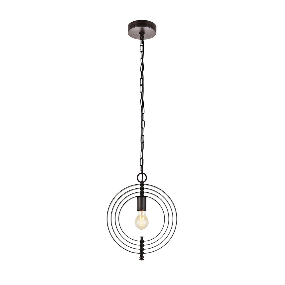 Featured Photo of Rossi Industrial Vintage 1 Light Geometric Pendants