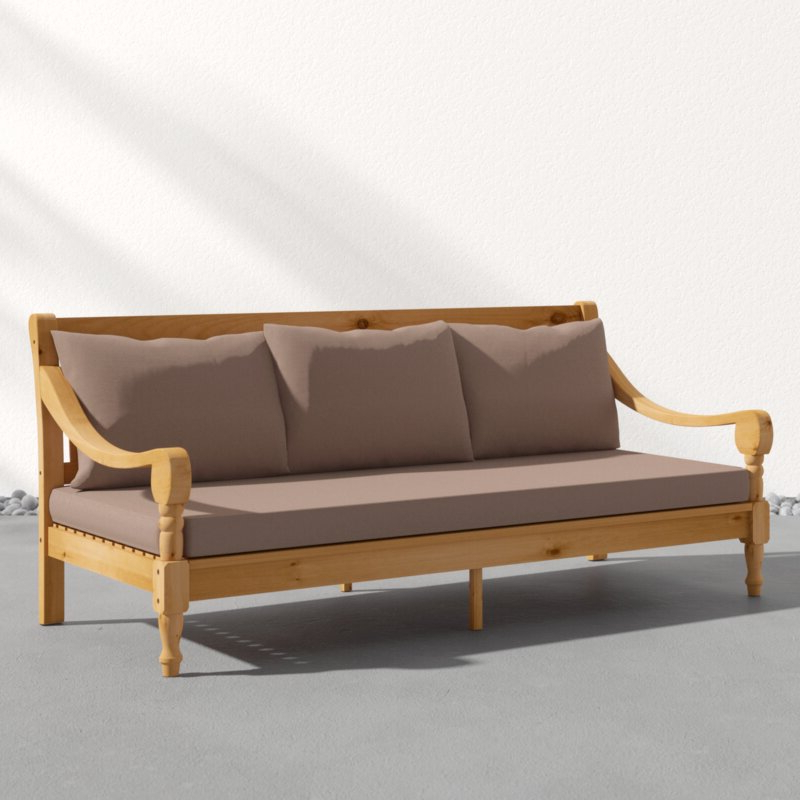 Roush Teak Patio Daybed With Cushions With Famous Roush Teak Patio Daybeds With Cushions (View 14 of 20)