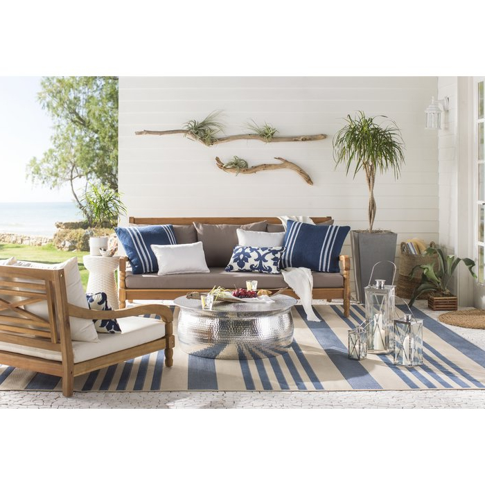 Roush Teak Patio Daybed With Cushions With Regard To Well Known Roush Teak Patio Daybeds With Cushions (View 16 of 20)