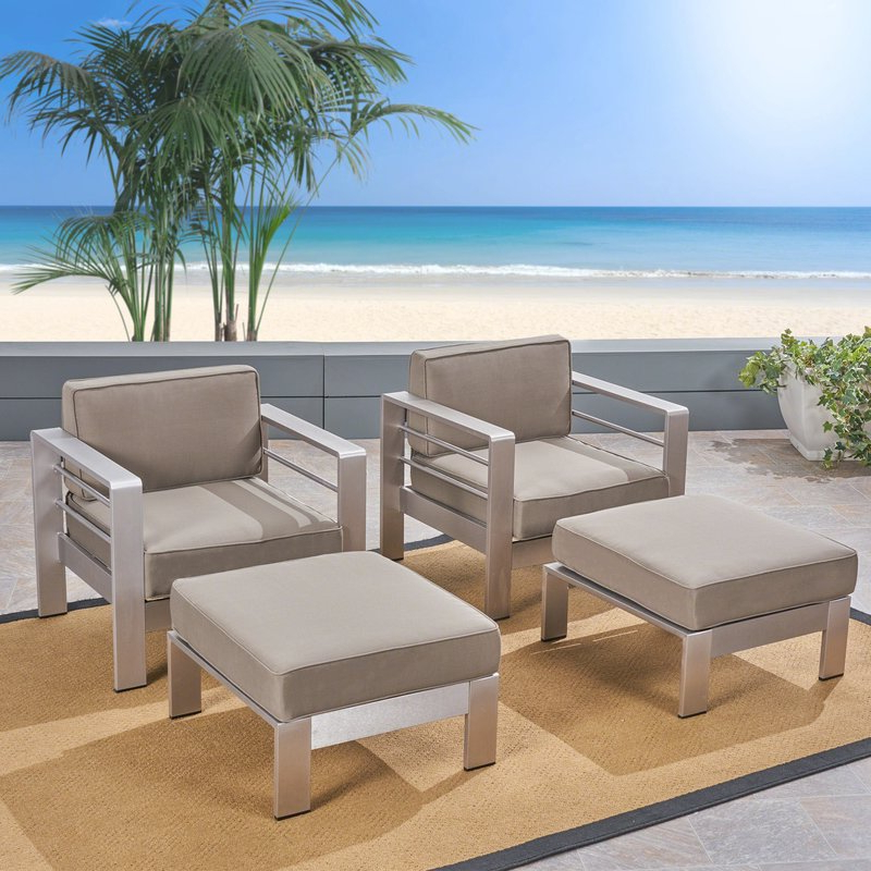 Royalston Patio Chair With Cushions For Recent Royalston Patio Sofas With Cushions (Gallery 16 of 20)