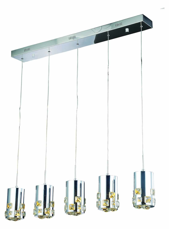 Royce 5 Light Led Kitchen Island Pendant Throughout Fashionable Zachery 5 Light Led Cluster Pendants (View 8 of 20)