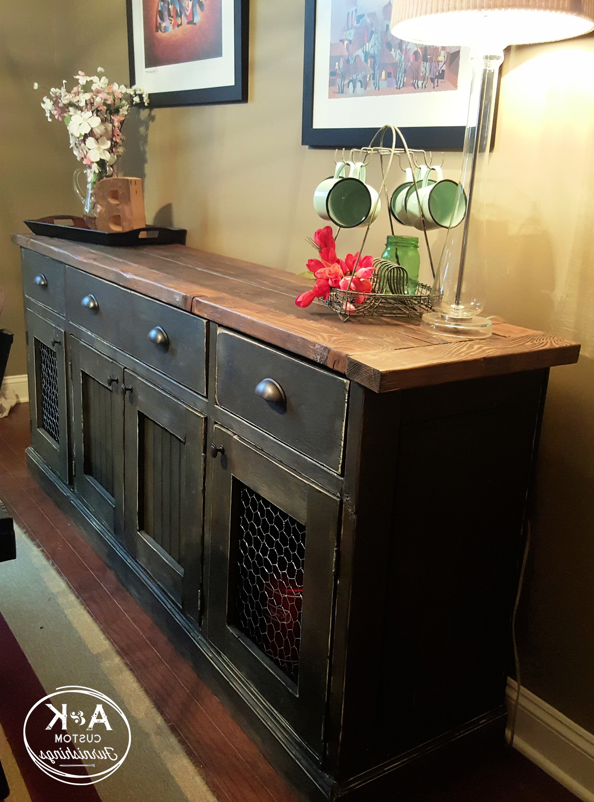 Rustic Sideboard, Sideboard (Gallery 20 of 20)