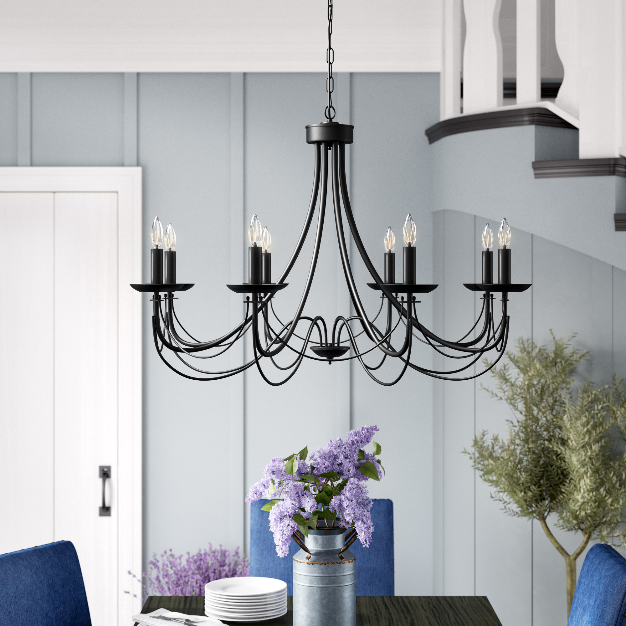 Ryckman Iron 8 Light Candle Style Chandelier Within Well Liked Watford 6 Light Candle Style Chandeliers (View 11 of 20)