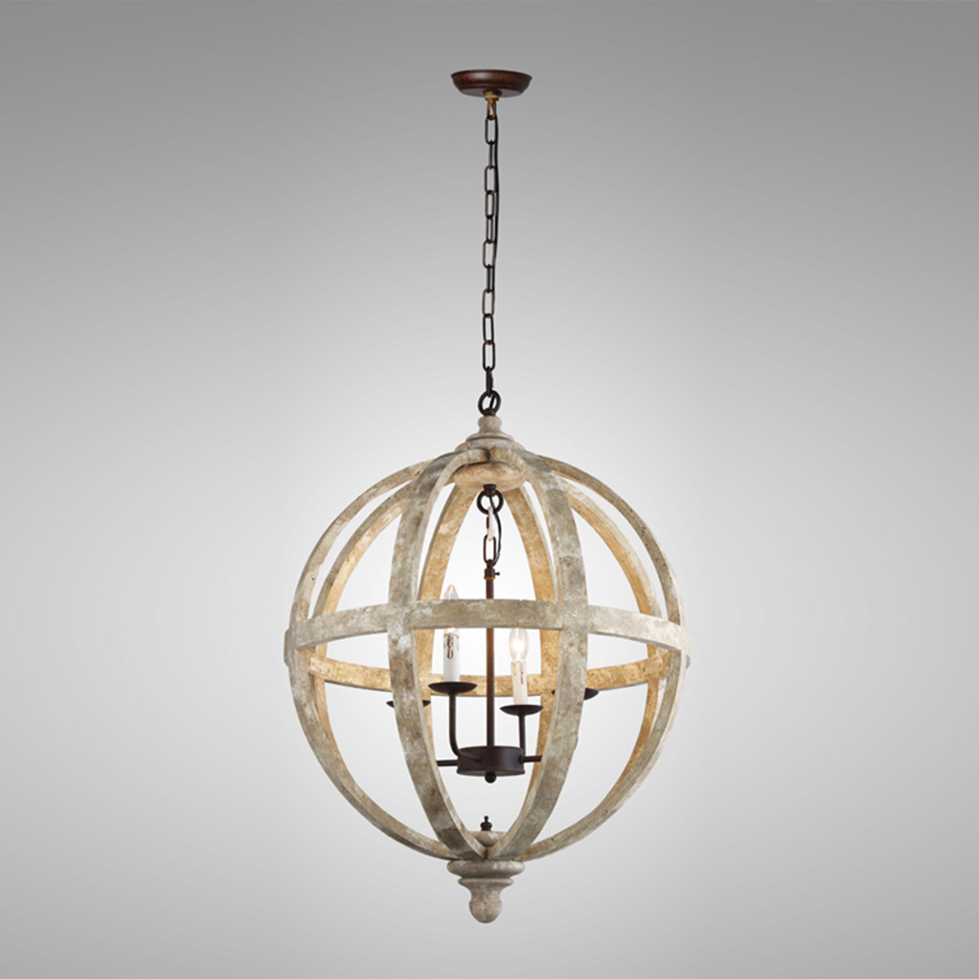 Ryne 4 Light Globe Chandelier With Regard To Well Known Cavanagh 4 Light Geometric Chandeliers (View 14 of 20)