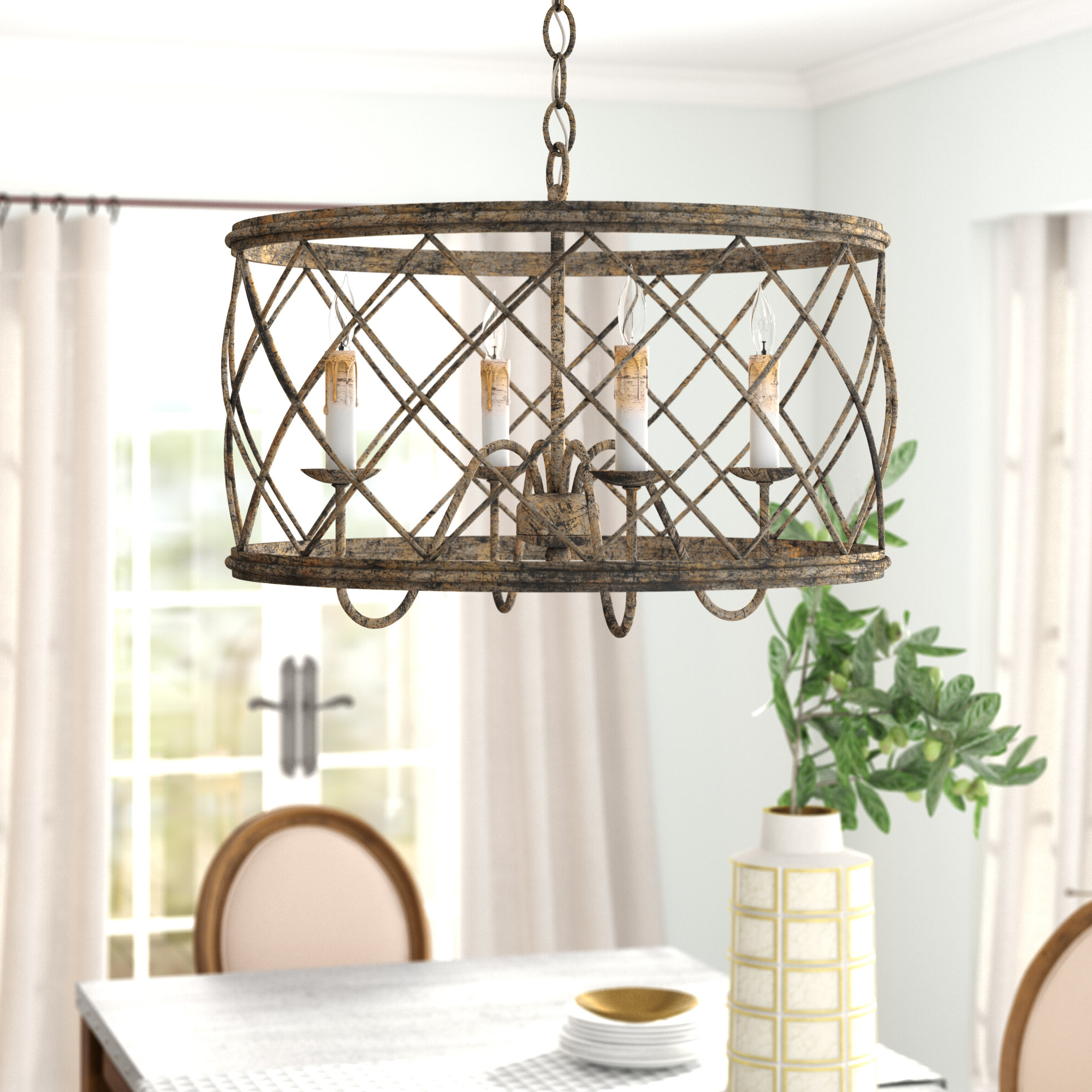 Ryne 4 Light Unique / Statement Chandelier With Fashionable Kierra 4 Light Unique / Statement Chandeliers (Gallery 6 of 20)