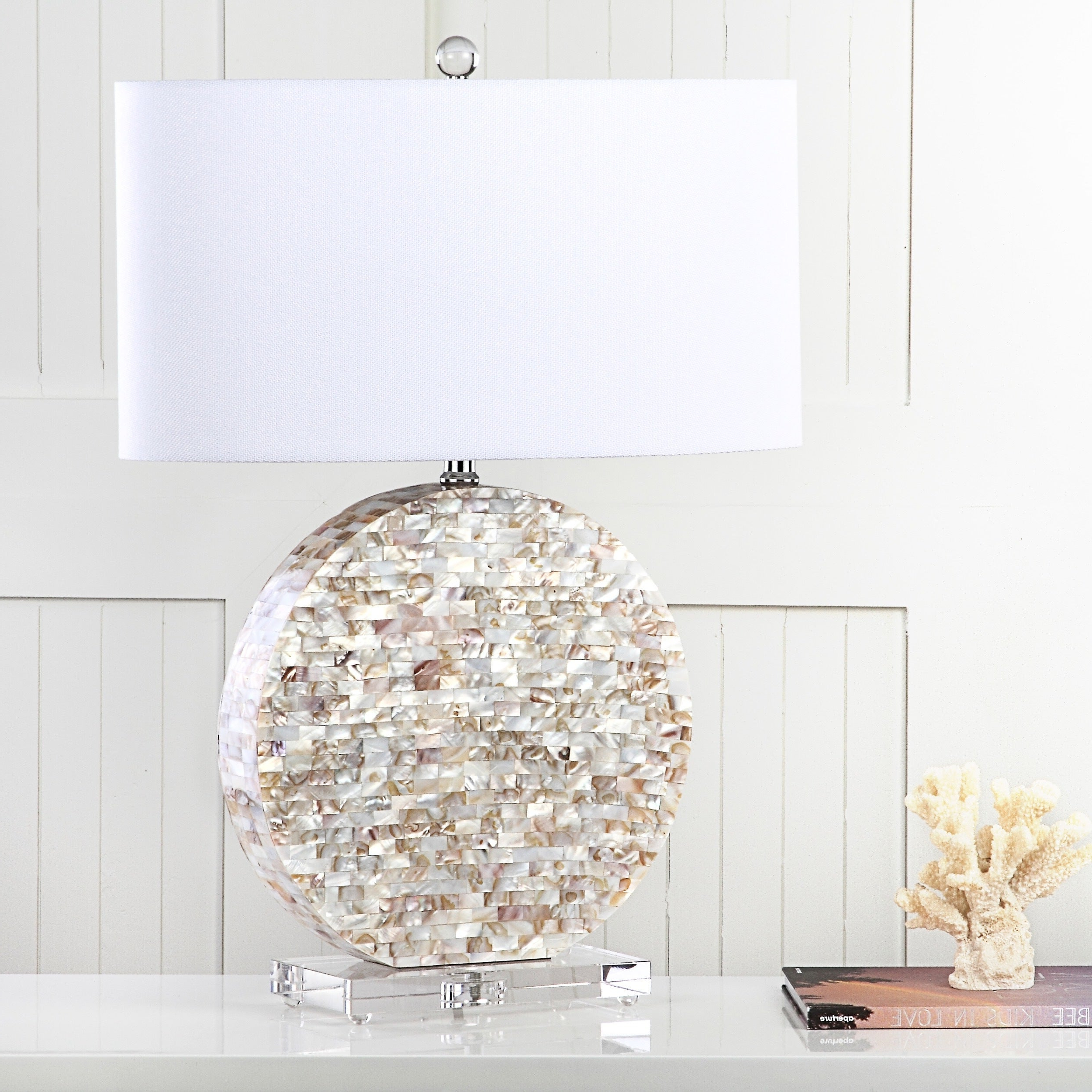 Safavieh Lighting 27 Inch Lindsey Cream Table Lamp Throughout Popular Lindsey 4 Light Drum Chandeliers (Gallery 13 of 20)