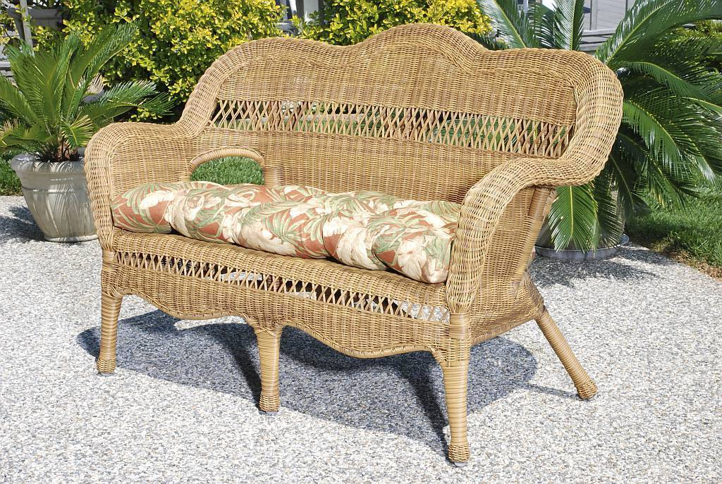 Sahara All Weather Resin Wicker Loveseat Throughout Fashionable Wicker Loveseats (View 12 of 20)