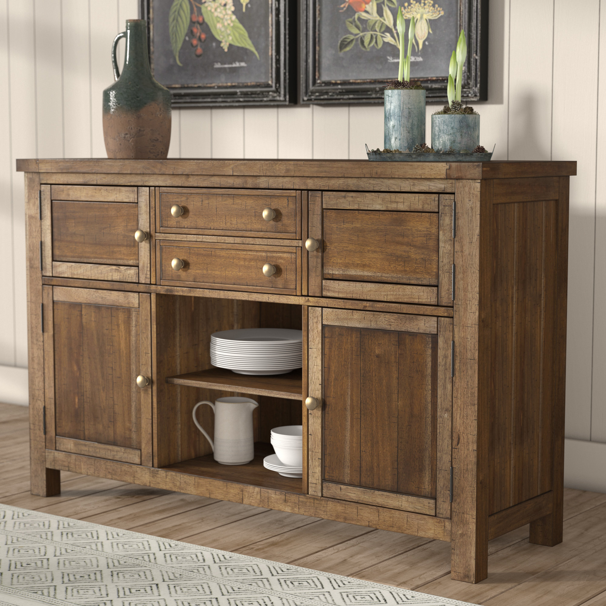 Saint Gratien Sideboards For Most Recently Released Laurel Foundry Modern Farmhouse Hillary Dining Room Buffet (View 14 of 20)