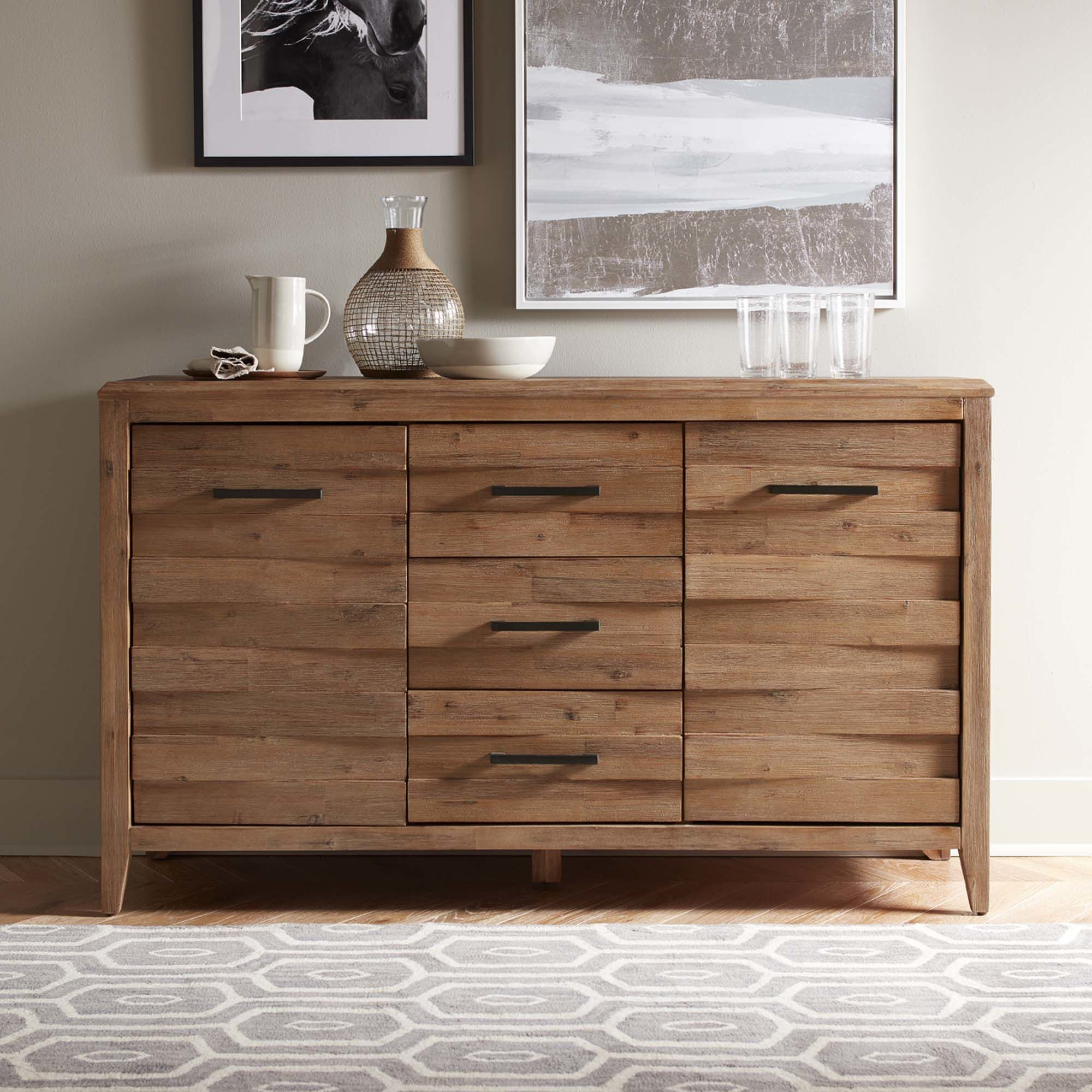 Saint Gratien Sideboards With Most Up To Date This Handsomely Built Acacia Wood Sideboard Features Rustic (View 7 of 20)