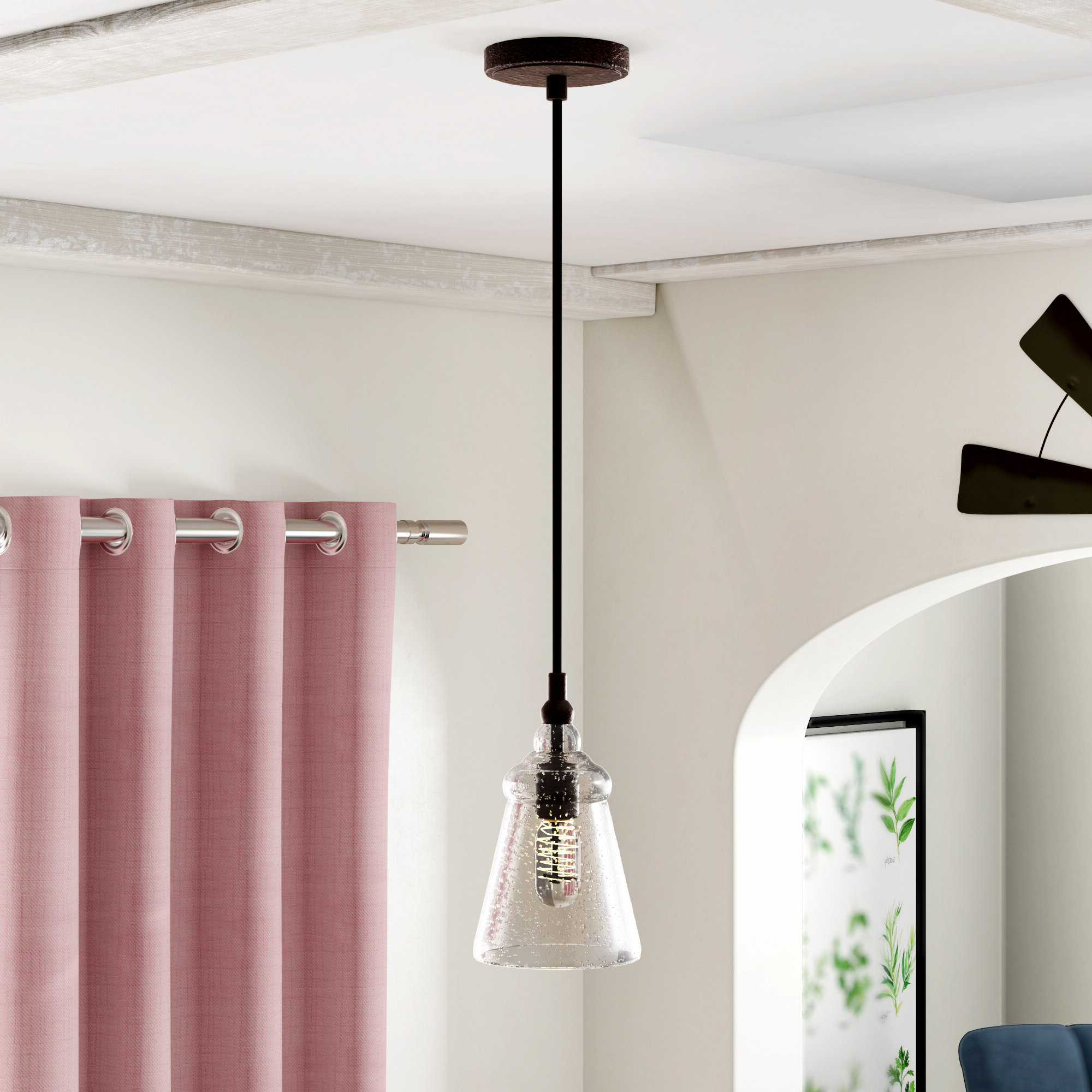 Sargent 1 Light Single Bell Pendants Intended For Well Liked Sharwari 1 Light Single Bell Pendant (Gallery 3 of 20)
