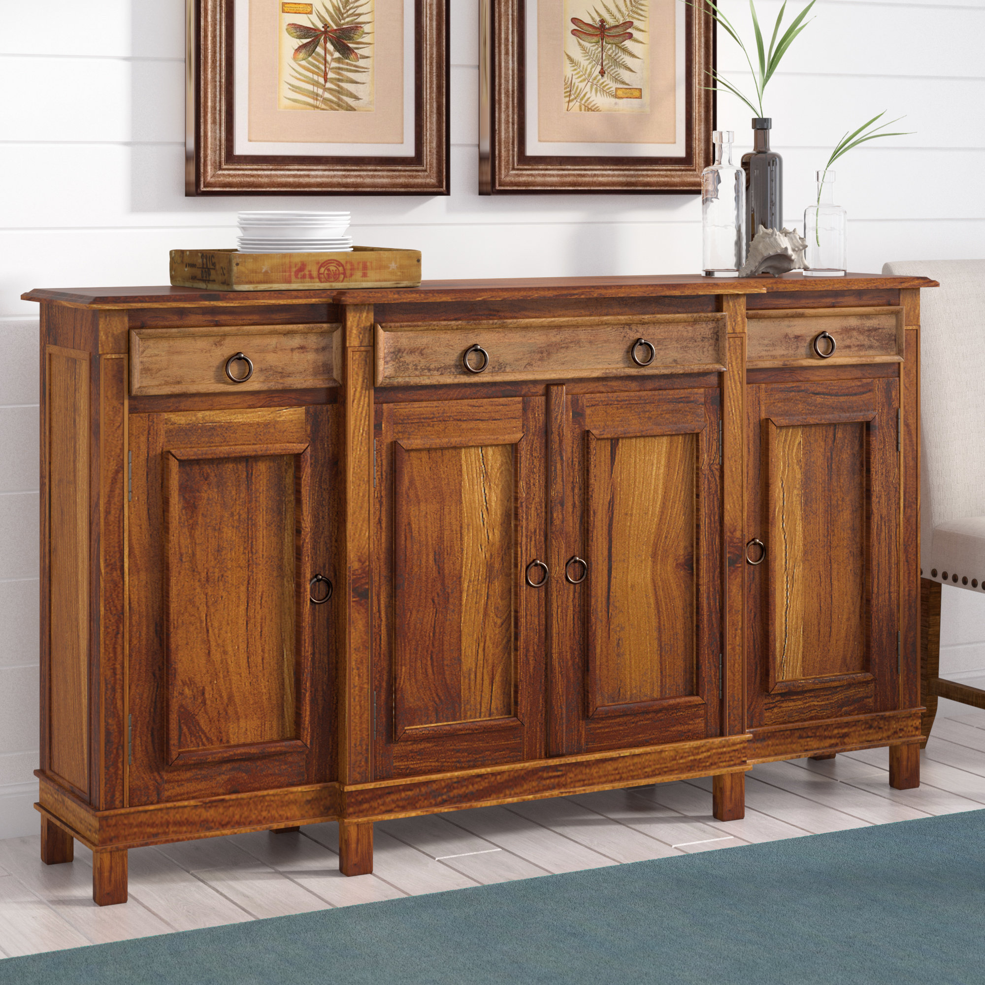Sayles Sideboards Intended For Most Popular Beachcrest Home Minneola Cottage Wood Buffet Table & Reviews (Gallery 11 of 20)