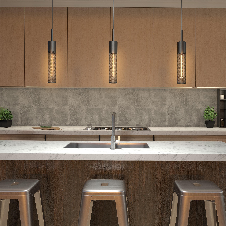 Schutt 4 Light Kitchen Island Pendants With Regard To Recent Schutt 1 Light Cylinder Pendant (Gallery 5 of 20)