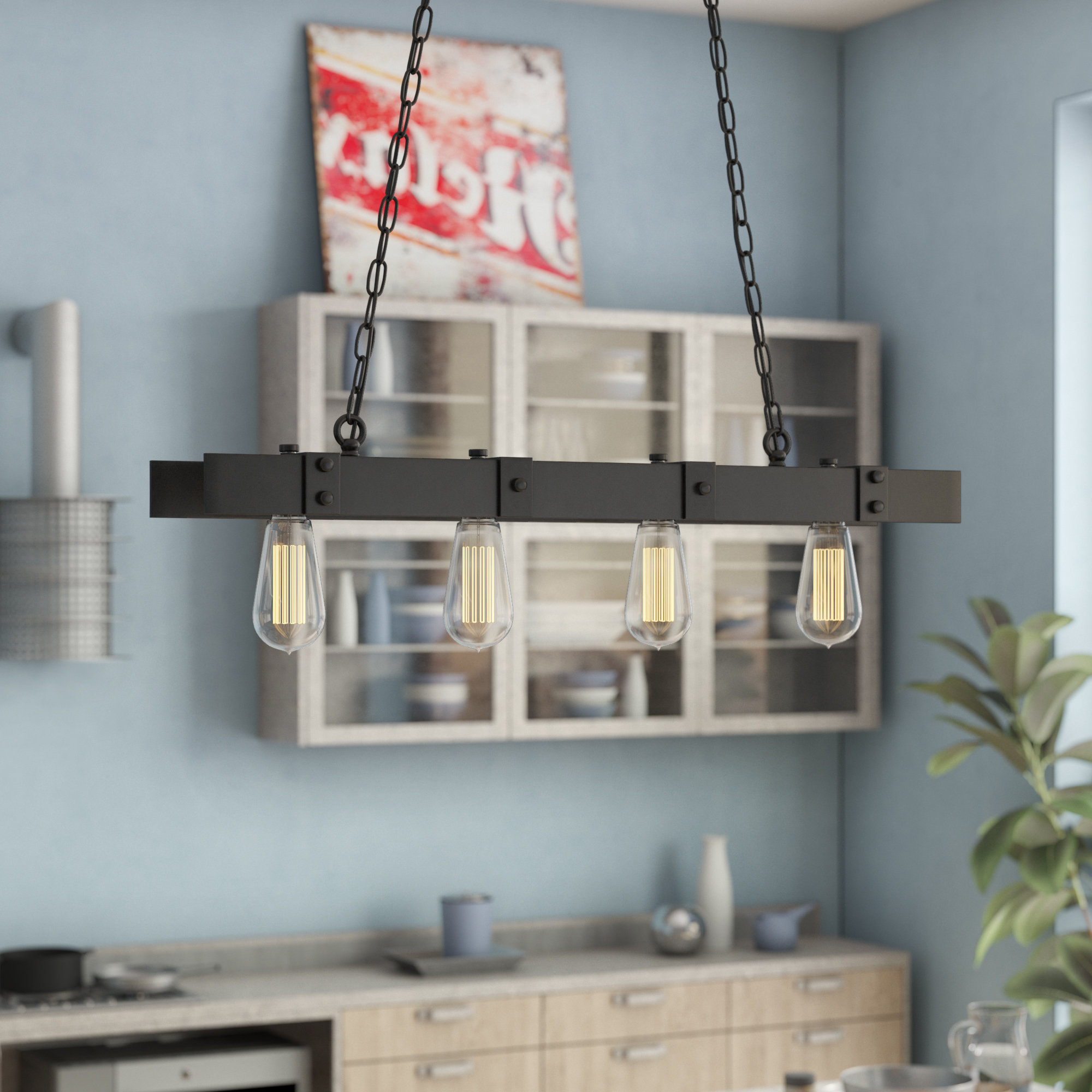 Schutt 4 Light Kitchen Island Pendants Within Widely Used Kitchen Island Williston Forge Pendant Lighting You'll Love (View 4 of 20)