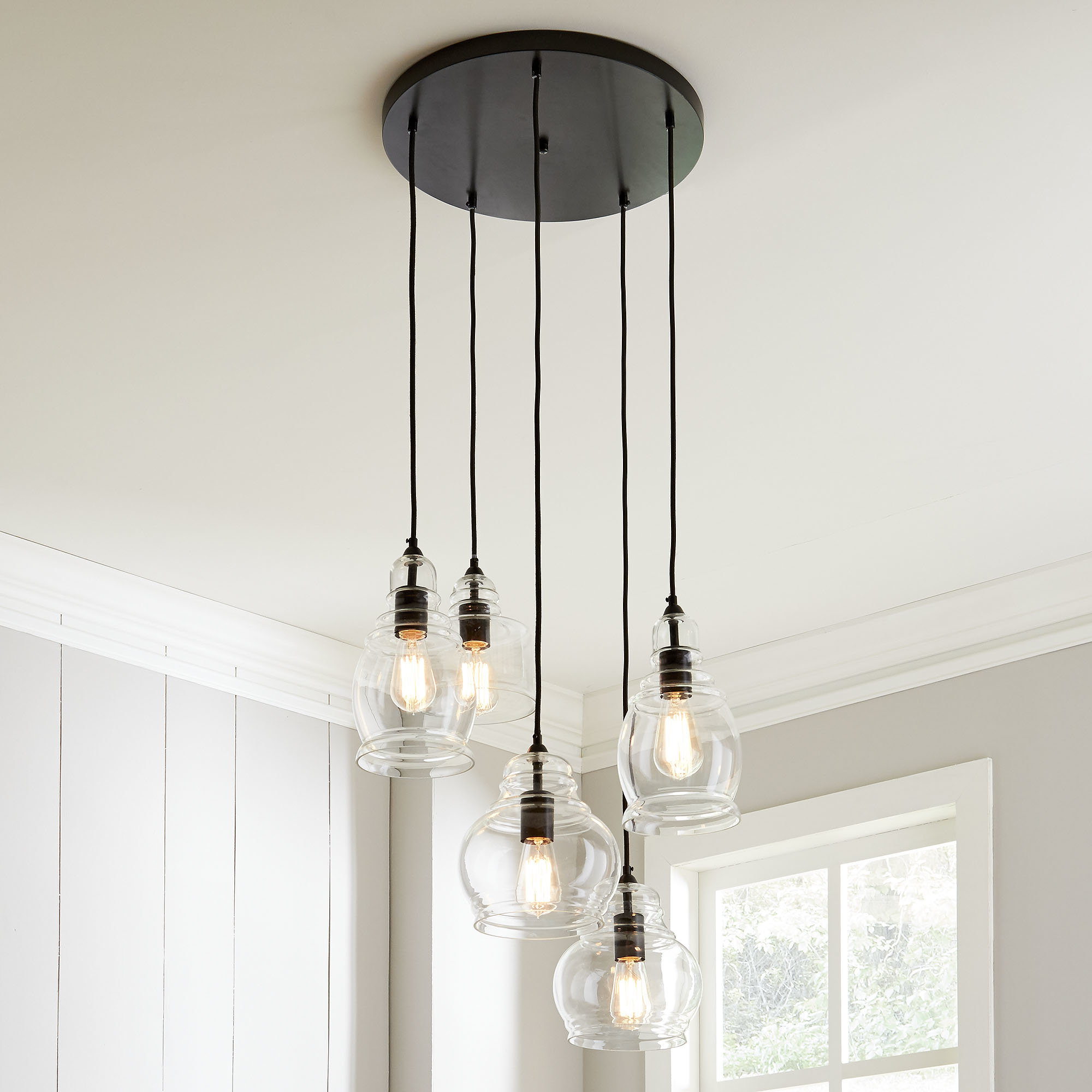 Schutt 5 Light Cluster Pendants For Latest 4 – 6 Light Cluster Pendant Lighting You'll Love In  (View 10 of 20)