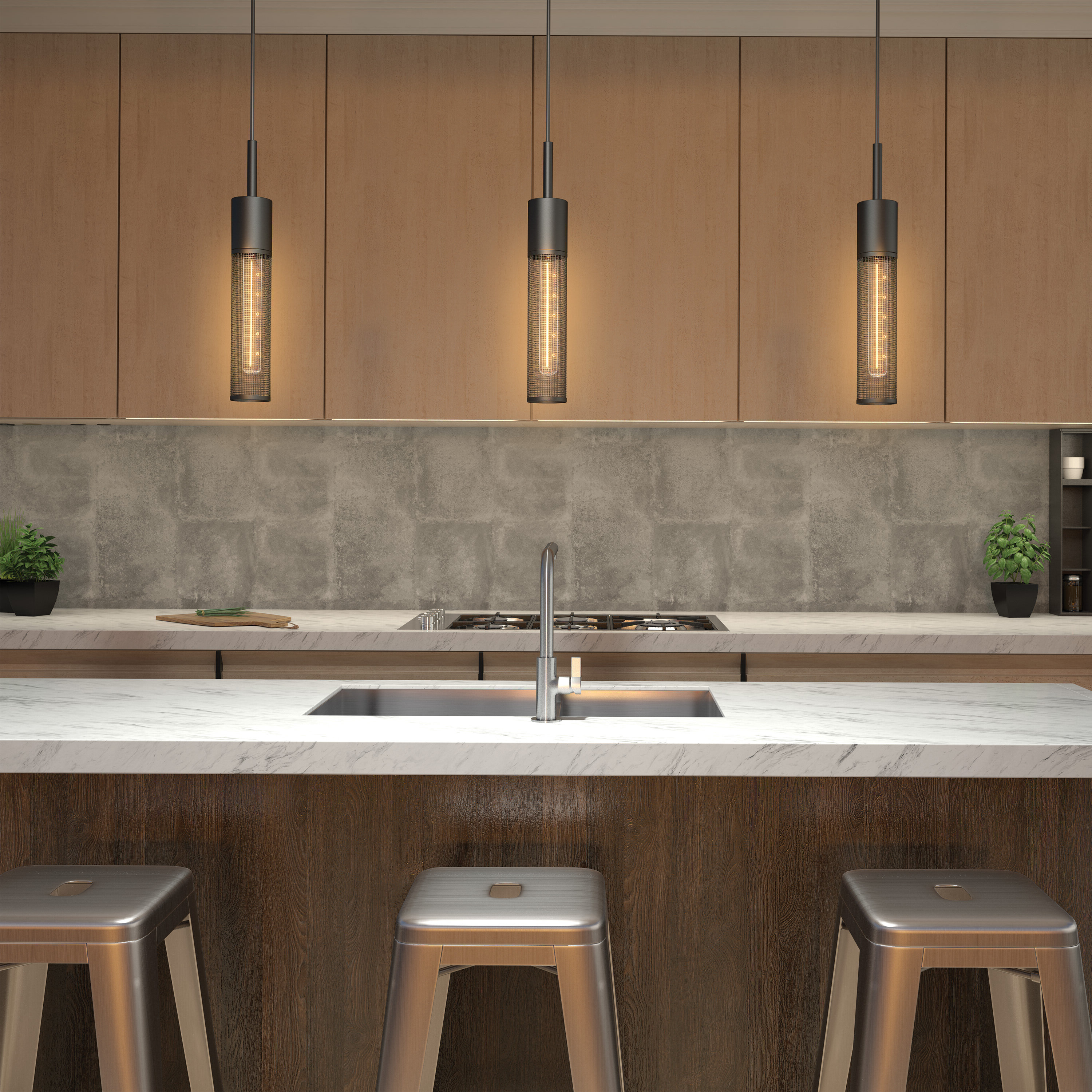 Schutt 5 Light Cluster Pendants With Widely Used Schutt 1 Light Cylinder Pendant (View 15 of 20)
