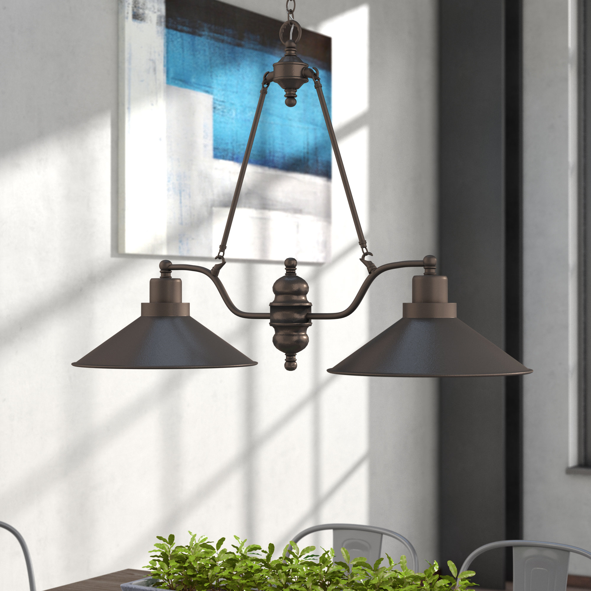 Schutt 5 Light Cluster Pendants Within Latest Industrial Pendant Lights You'll Love In  (View 16 of 20)