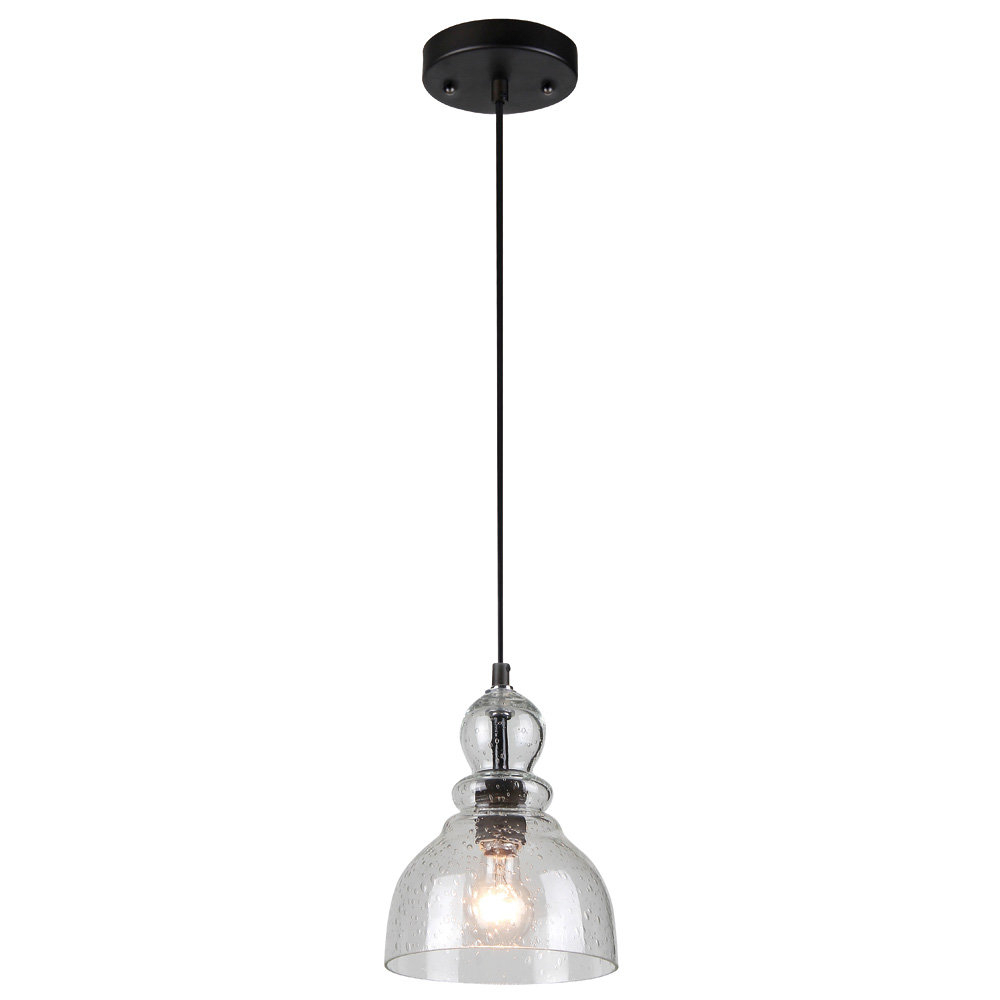 Scruggs 1 Light Geometric Pendants With Recent Modern Glass Seeded Pendant Lighting (View 16 of 20)