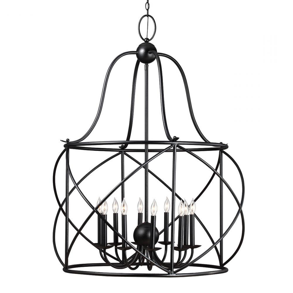 Sea Gull 5116410 839 – Turbinio Ten Light Hall / Foyer In Within Popular Nisbet 6 Light Lantern Geometric Pendants (View 19 of 20)